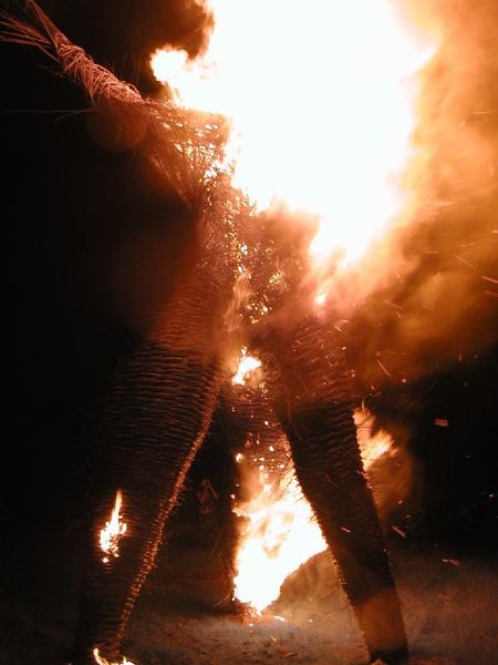 the burning of the wicker man