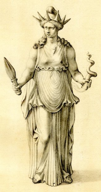 The goddess Hecate