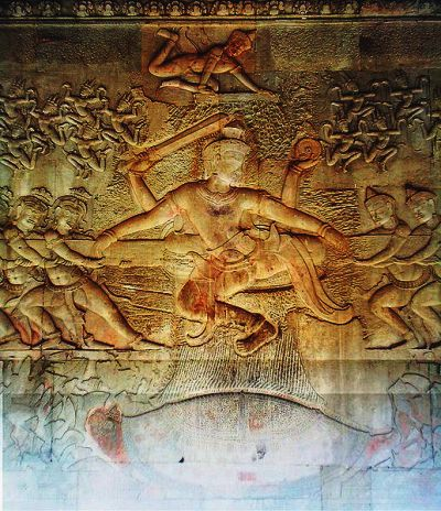 The Churning of the Milky Ocean at Angkor Wat