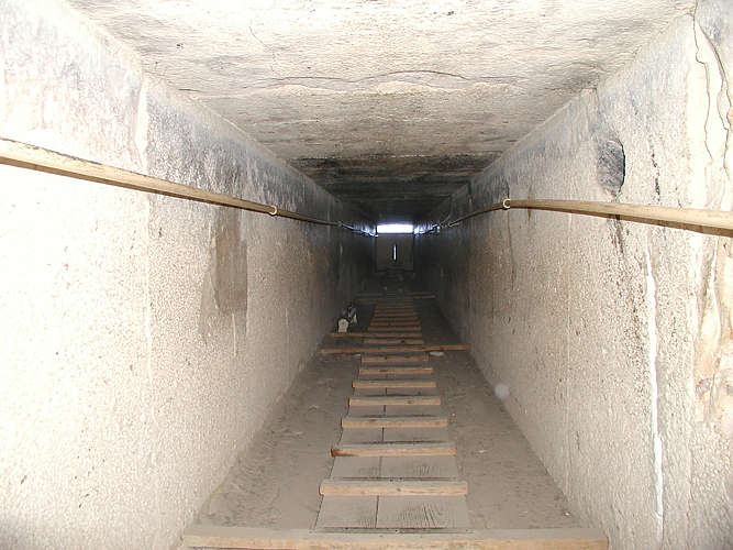 the descending passage of the Great Pyramid