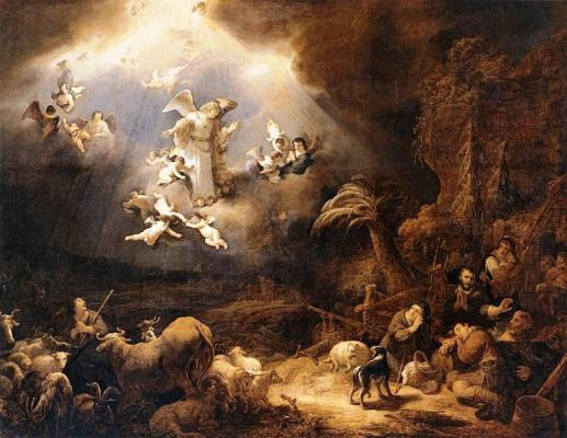 Angels Announcing the Birth of Christ to the Shepherds by Govert Flinck